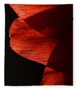 Amaryllis Abstract Fleece Blanket