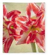 Amaryllis Red Fleece Blanket