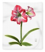 Amaryllis Fleece Blanket