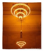 Amazing Antique Chandelier - Grand Central Station New York Fleece Blanket