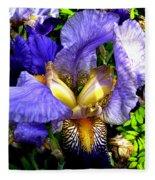 Amazing Iris Fleece Blanket