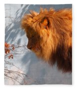 Amazing Male Lion Fleece Blanket