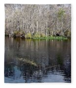 Reflections - On The - Silver River Fleece Blanket