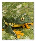 Amazon Leaf Frog Fleece Blanket