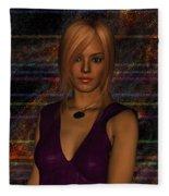 Amber Digital Portait Fleece Blanket