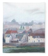 Amboise And The Loire River France Fleece Blanket