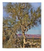 Amboy Shoe Tree By Diana Sainz Fleece Blanket