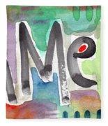 Amen- Colorful Word Art Painting Fleece Blanket