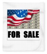 America For Sale Fleece Blanket