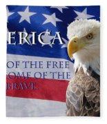 America Land Of The Free Fleece Blanket