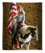 America -- Rodeo-style Fleece Blanket