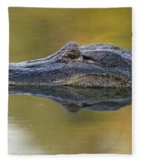 American Alligator Reflection Fleece Blanket