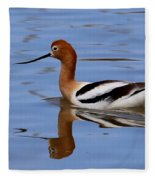American Avocet Fleece Blanket