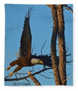 American Bald Eagle I Mlo Fleece Blanket