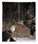 American Bald Eagles Fleece Blanket