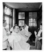 American Barbershop, C1900 Fleece Blanket
