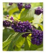American Beautyberry -callicarpa Americana Fleece Blanket