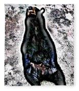 American Black Bear Fleece Blanket