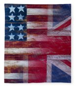 American British Flag Fleece Blanket