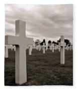 American Cemetery In Normandy  Fleece Blanket