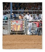 American Cowboy Bucking Rodeo Bronc Fleece Blanket
