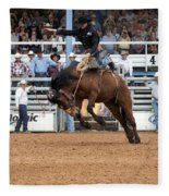 American Cowboy Riding Bucking Rodeo Bronc I Fleece Blanket
