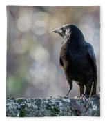 American Crow Square Fleece Blanket