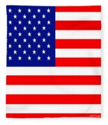 American Flag . Square Fleece Blanket