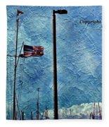 American Flag As A Painting Fleece Blanket