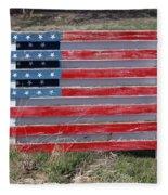 American Flag Country Style Fleece Blanket