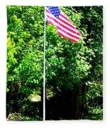 American Flag - Honoring John Fleece Blanket