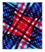 American Flag Kaleidoscope Fleece Blanket