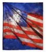 American Flag Photo Art 02 Fleece Blanket