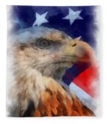 American Flag Photo Art 03 Fleece Blanket