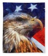 American Flag Photo Art 04 Fleece Blanket