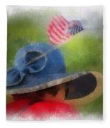 American Flag Photo Art 05 Fleece Blanket