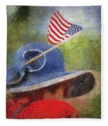 American Flag Photo Art 06 Fleece Blanket
