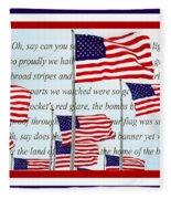 American Flag Tribute  Fleece Blanket