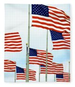American Flags Fleece Blanket