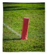 American Football Field Marker Fleece Blanket