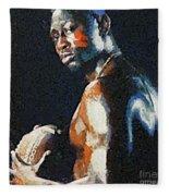American Football Player Fleece Blanket