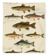 American Game Fish Fleece Blanket