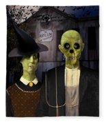 American Gothic Halloween Fleece Blanket