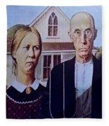 American Gothic Fleece Blanket