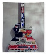 American Guitar Fleece Blanket