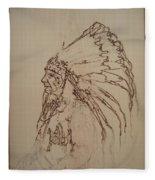 American Horse - Oglala Sioux Chief - 1880 Fleece Blanket
