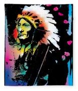 American Indian Silo Fleece Blanket