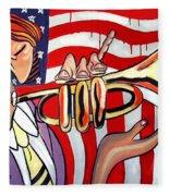 American Jazz Man Fleece Blanket