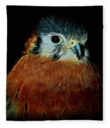 American Kestrel Digital Art Fleece Blanket