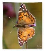 American Lady Butterfly Fleece Blanket